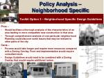 policy analysis neighborhood specific19