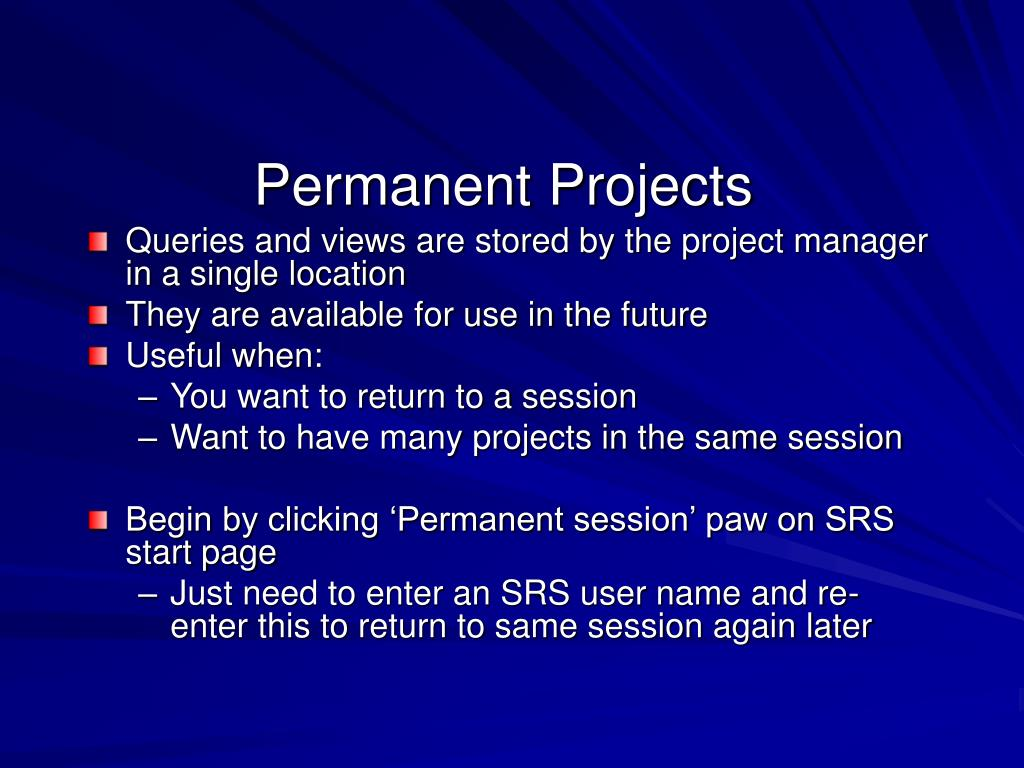 Permanent Projects
