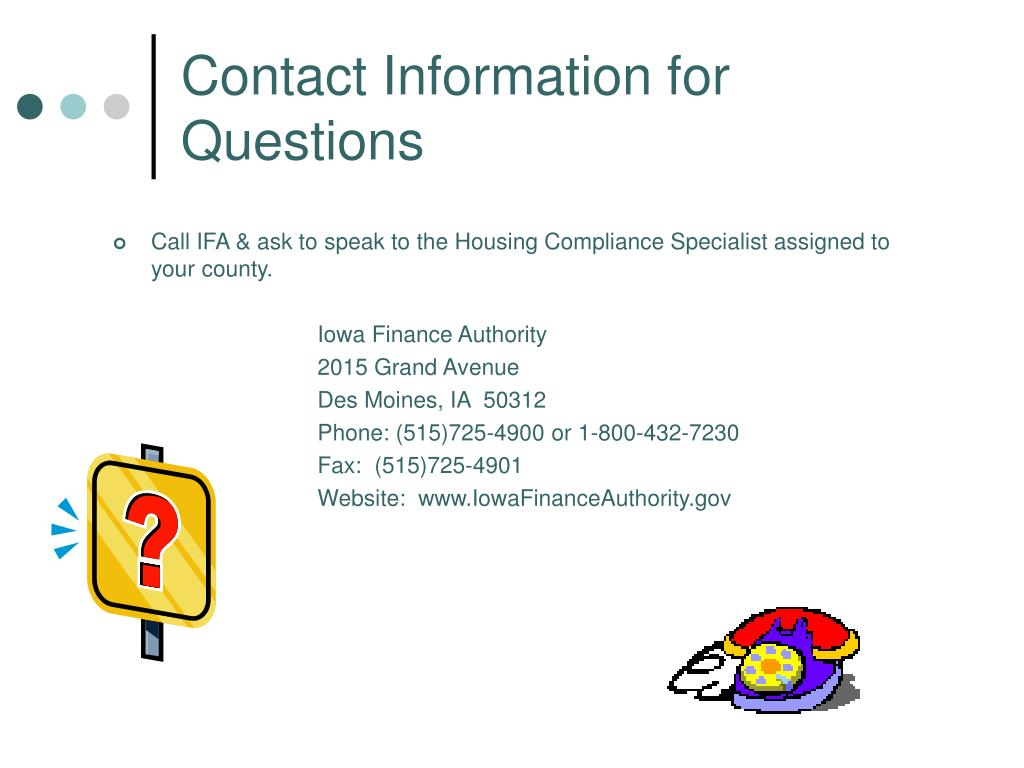Contact Information for Questions