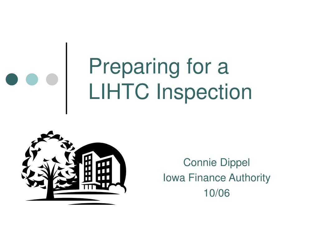 preparing for a lihtc inspection l.