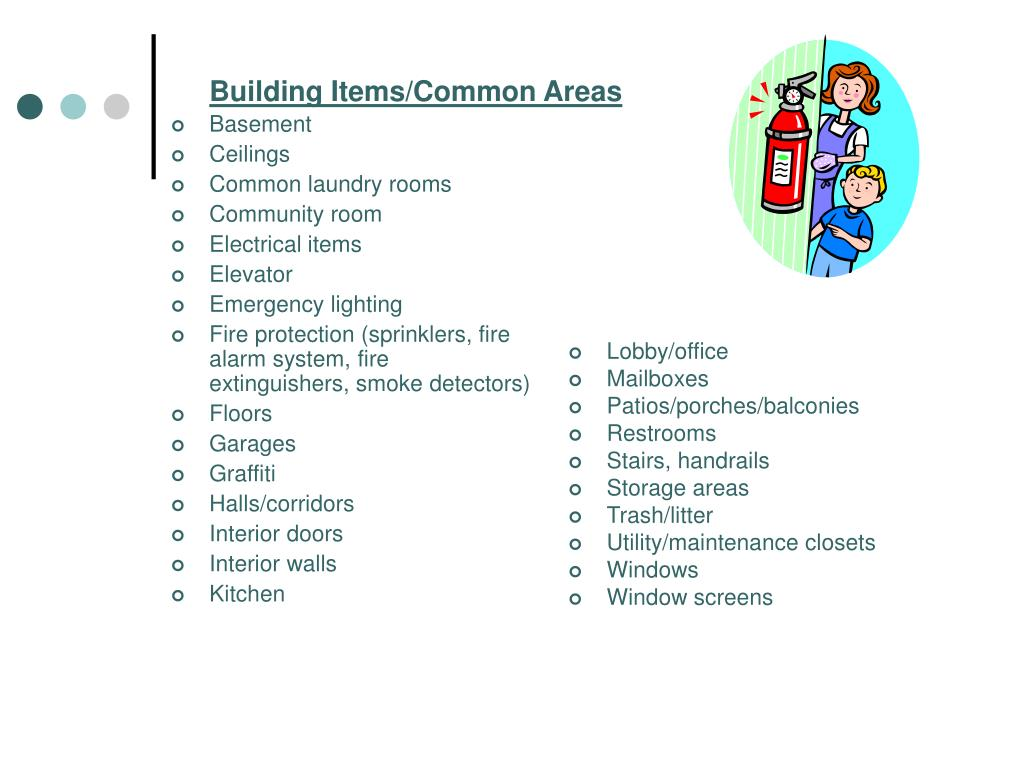 Building Items/Common Areas