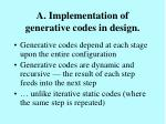 a implementation of generative codes in design