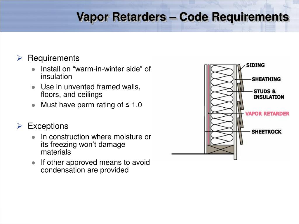 Vapor Retarders – Code Requirements