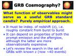 grb cosmography