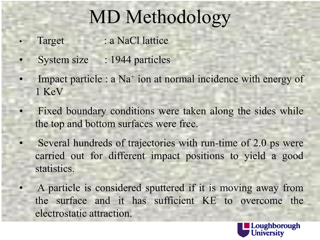 MD Methodology
