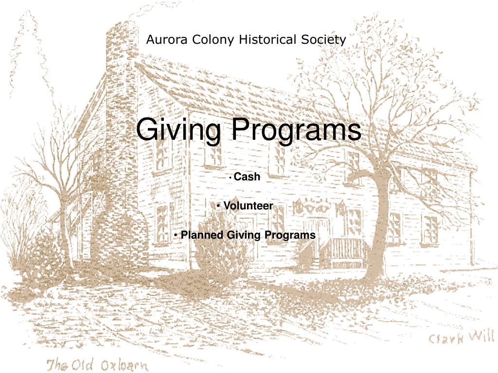 Aurora Colony Historical Society