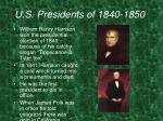 u s presidents of 1840 1850