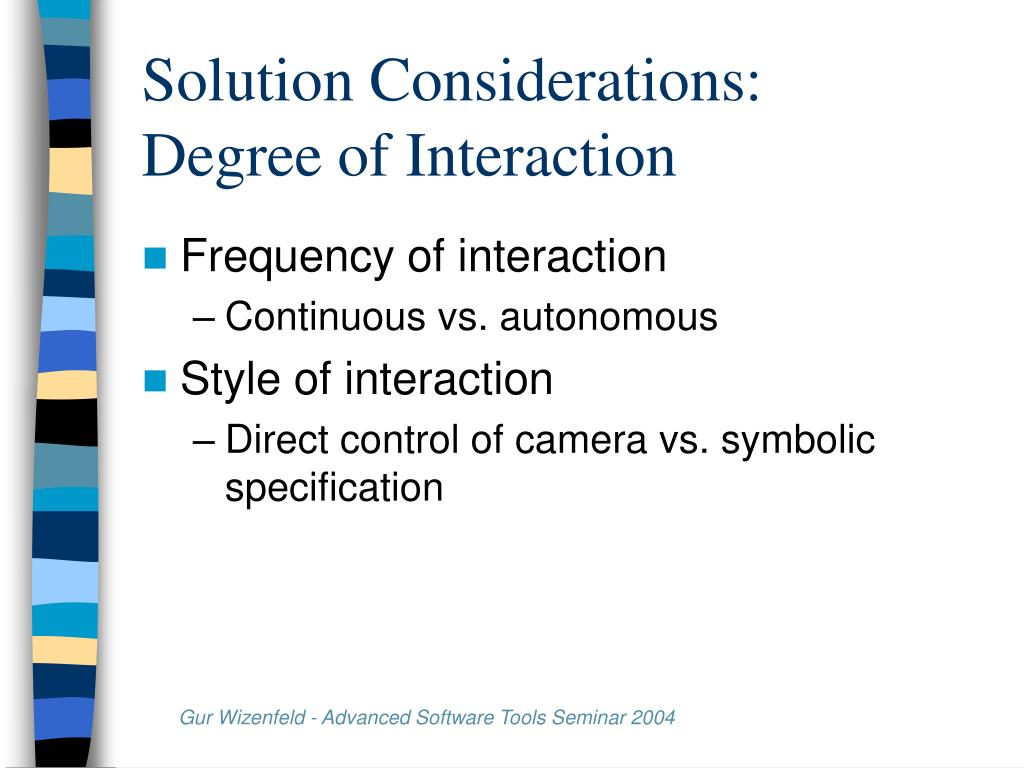 Solution Considerations:
