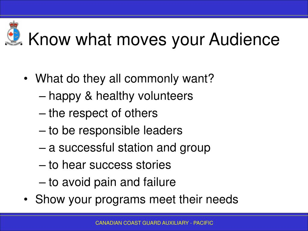 Know what moves your Audience