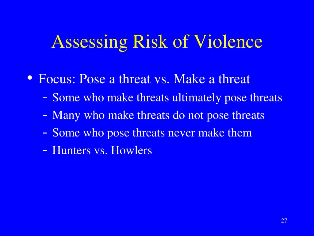 Assessing Risk of Violence