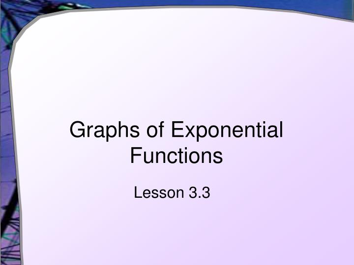 graphs of exponential functions n.