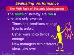 evaluating performance