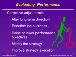 evaluating performance1