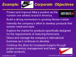 example nike s corporate objectives