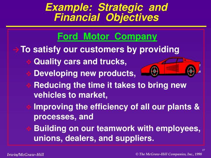 Example:  Strategic  and