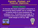 example strategic and financial objectives1