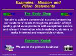 examples mission and vision statements3