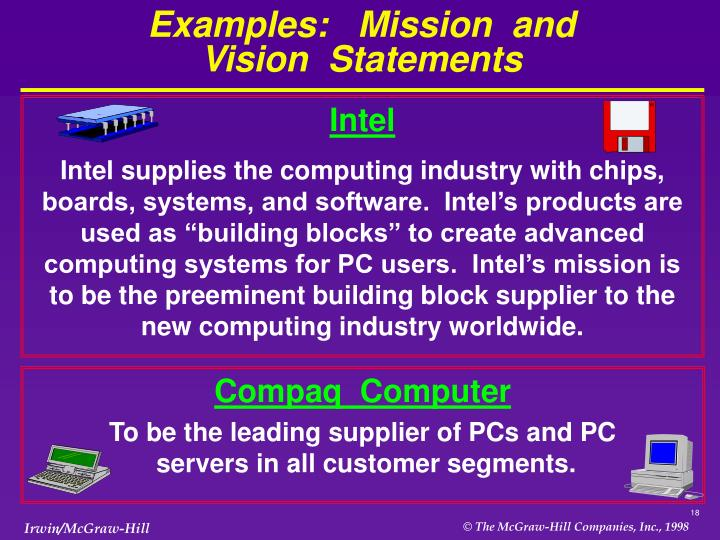 vision statement of intel Vision and strategy - cbp.
