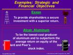 examples strategic and financial objectives1