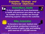 examples strategic and financial objectives2
