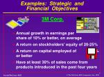 examples strategic and financial objectives3