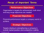 recap of important terms1