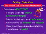 setting objectives