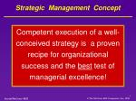 strategic management concept