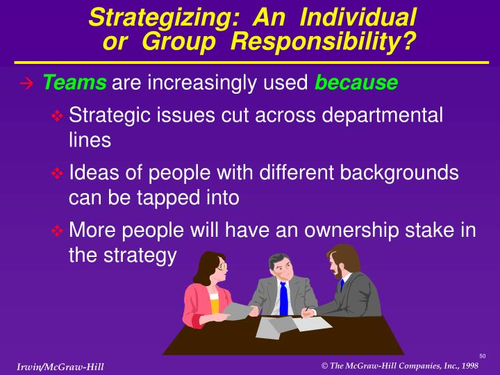 Strategizing:  An  Individual