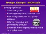 strategy example mcdonald s