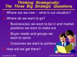 thinking strategically the three big strategic questions