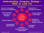 understanding company strategy what to look for