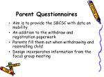parent questionnaires