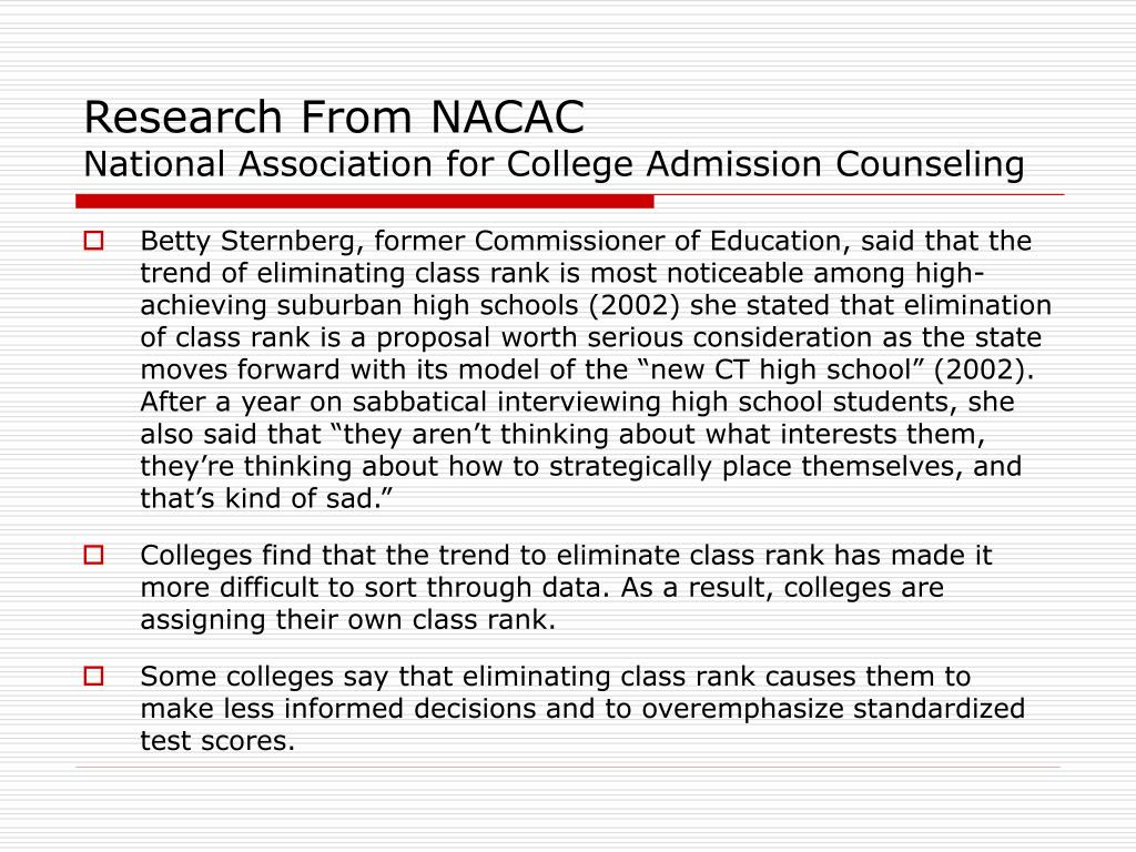 Research From NACAC