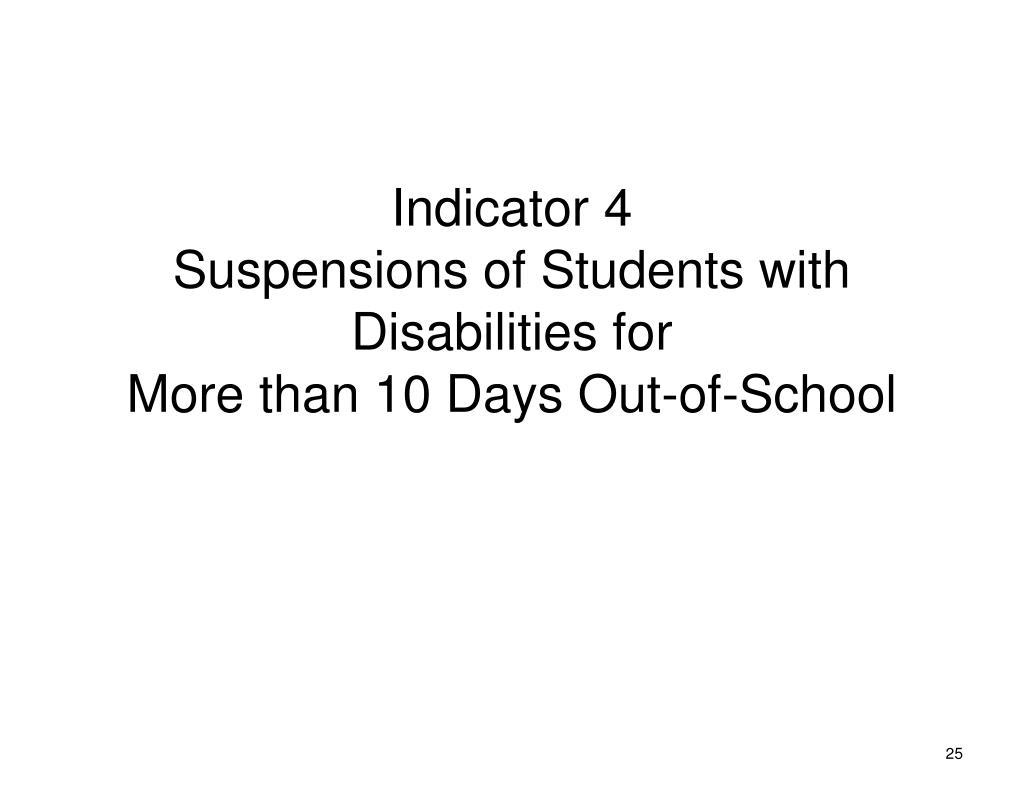 Indicator 4