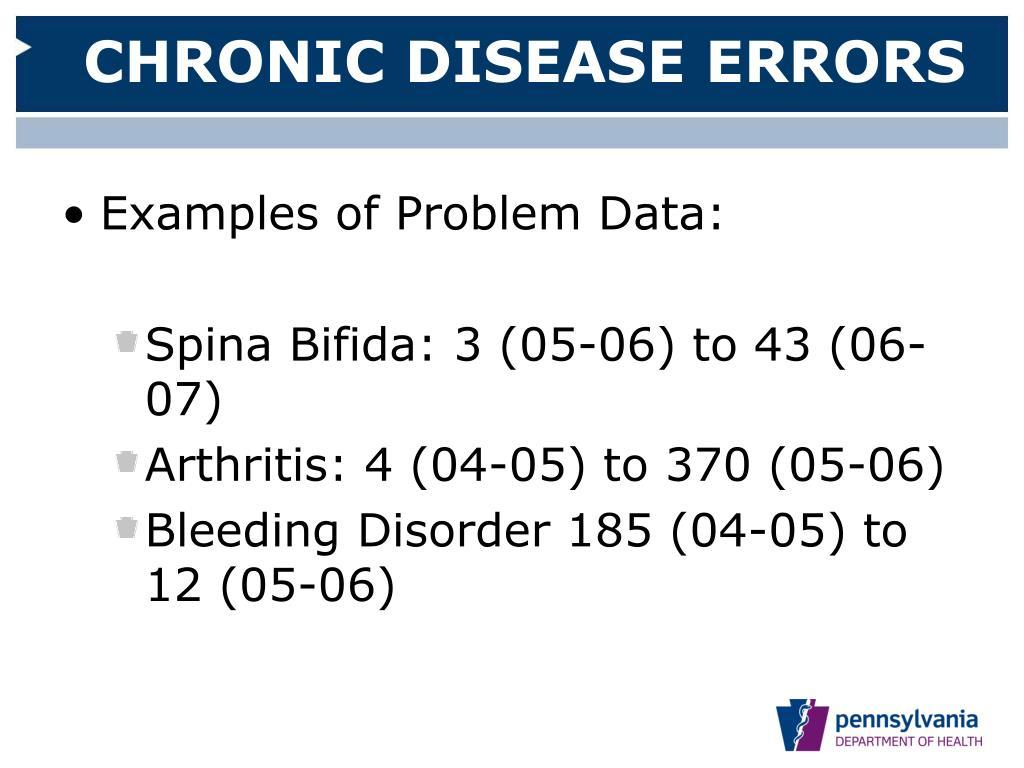 CHRONIC DISEASE ERRORS