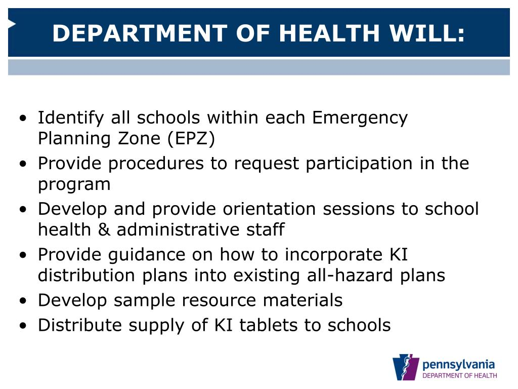DEPARTMENT OF HEALTH WILL: