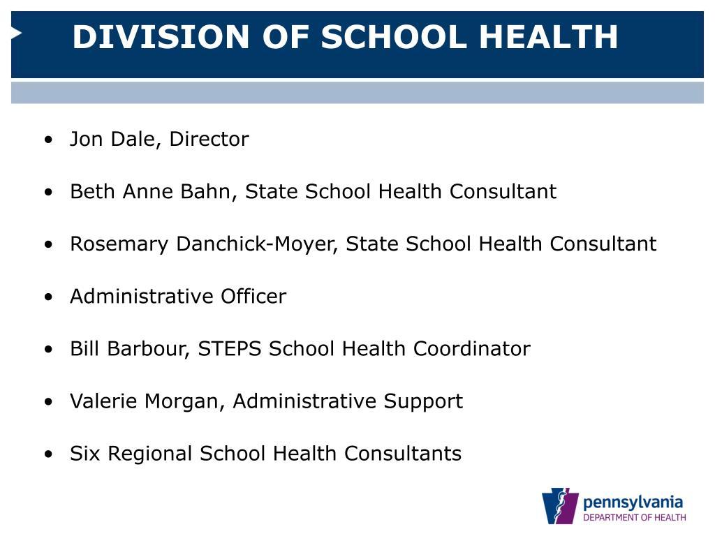 DIVISION OF SCHOOL HEALTH