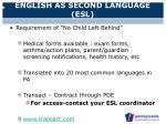 english as second language esl