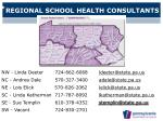 regional school health consultants
