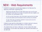 new web requirements18