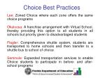 choice best practices