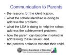 communication to parents35