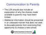 communication to parents36