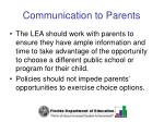 communication to parents38