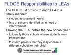 fldoe responsibilities to leas