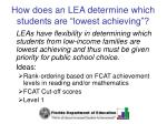 how does an lea determine which students are lowest achieving