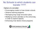 no schools to which students can transfer62