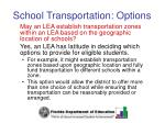 school transportation options