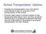 school transportation options49